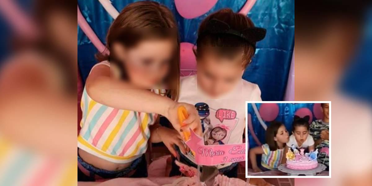 video niñas cumpleaños meme viral historia motivo apaga la vela brasil