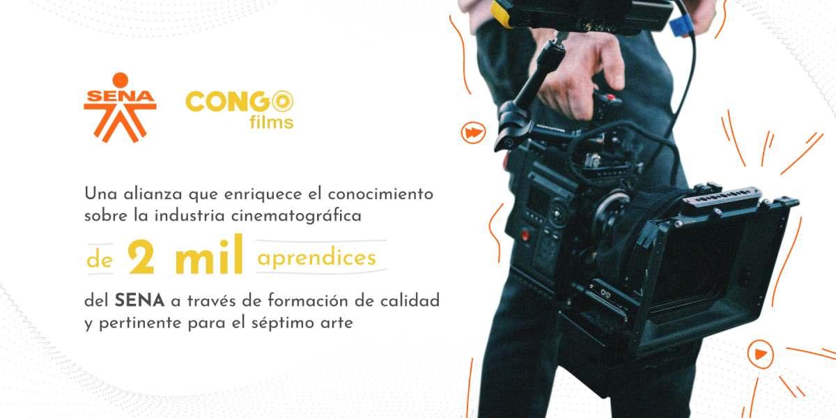 SENA firma alianza con Congo Films para fortalecer formación de aprendices de Cine