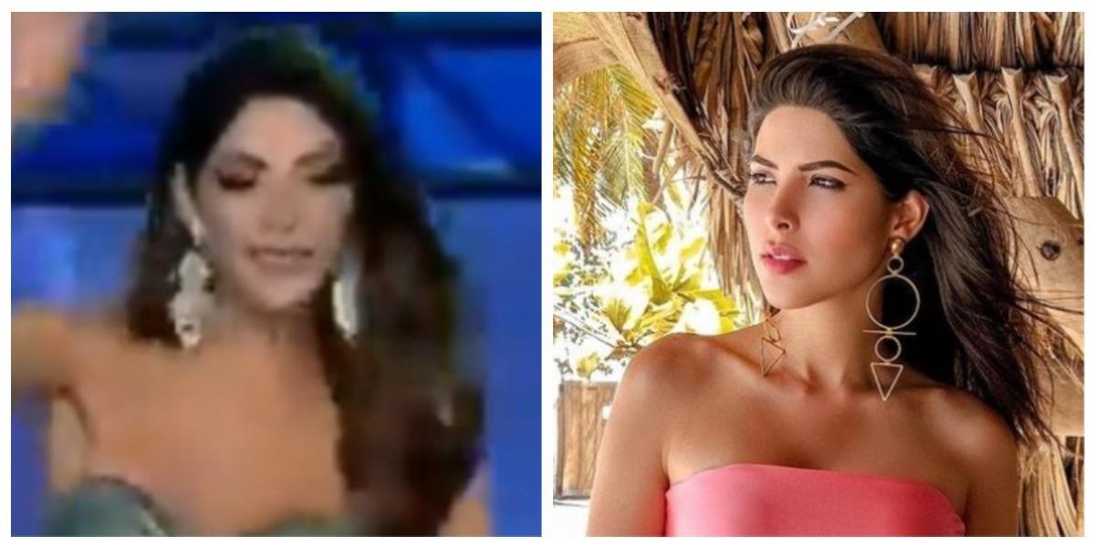 Laura Olascuaga tuvo un desliz en pasarela durante Miss Universe Colombia