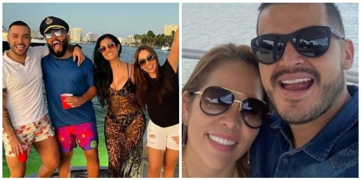 Sandra Barrios está en la playa con Jorge Espinosa