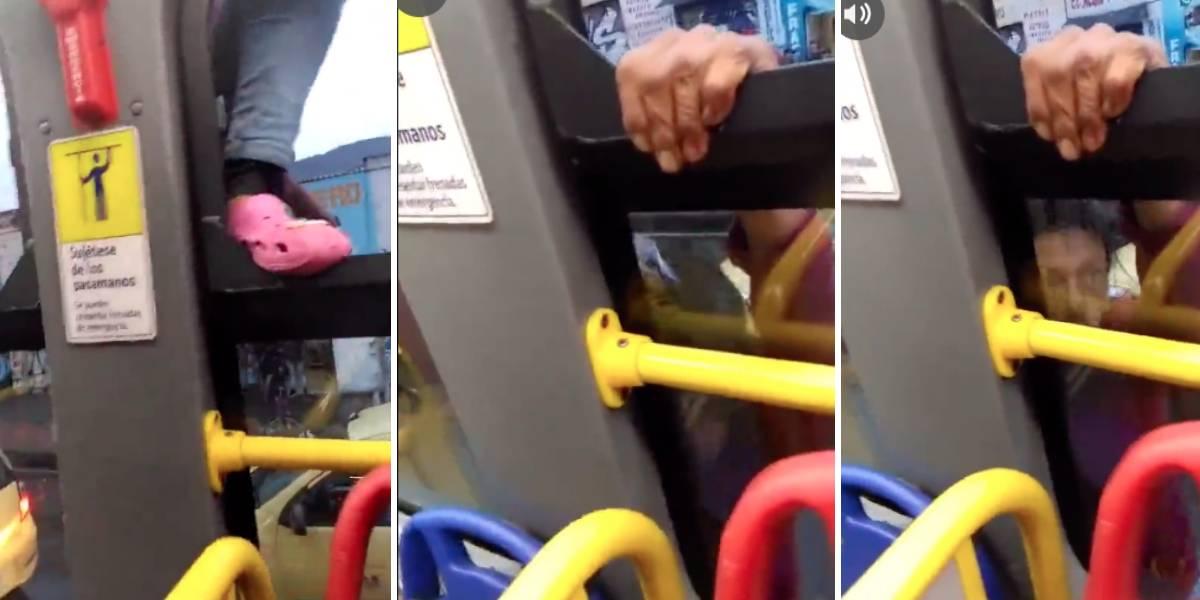 Intentaron robar su celular dentro de un TransMilenio y todo quedó en video