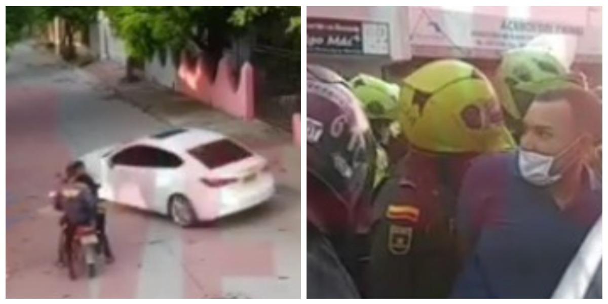 Pilló a su esposo con la amante en el carro y fingió que se lo habían robado