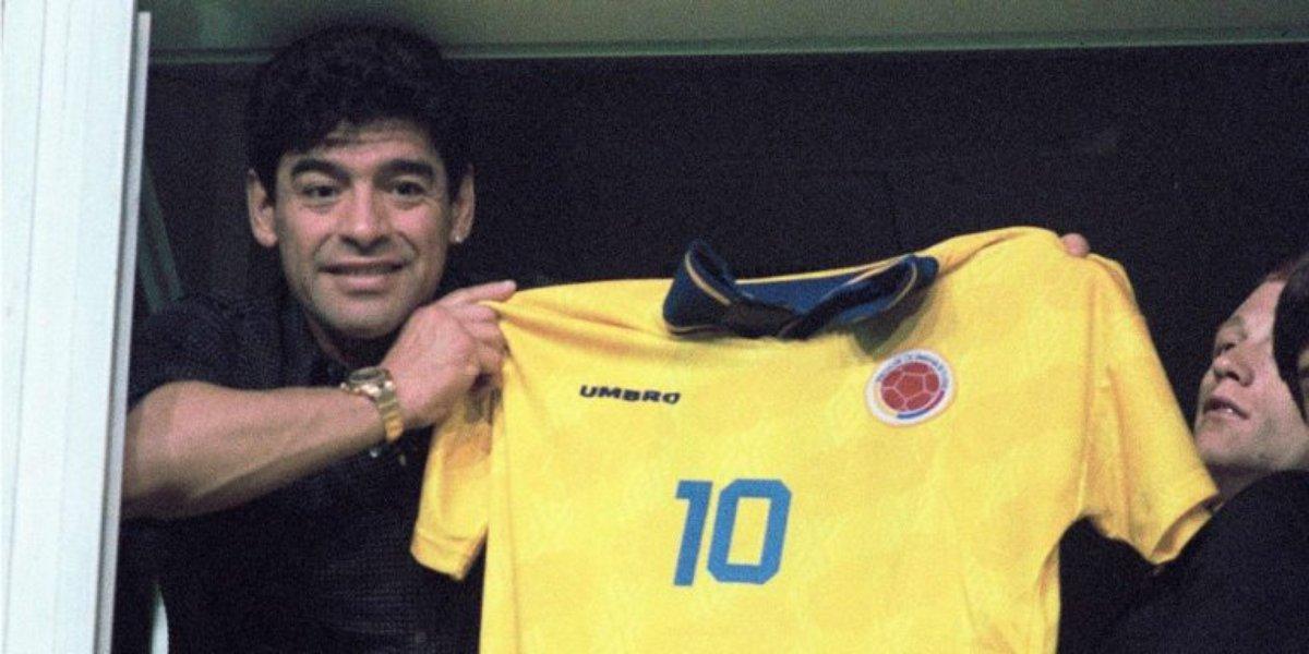 Pibe Valderrama y Diego Maradona
