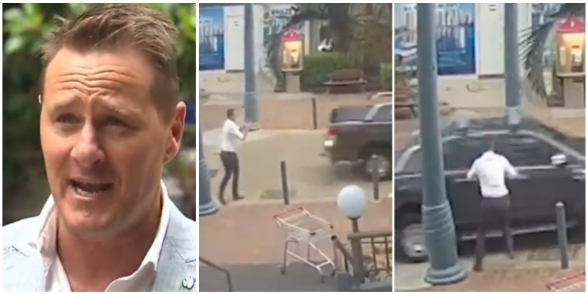Roban carro del periodista Luke Bradnam en vivo en Australia