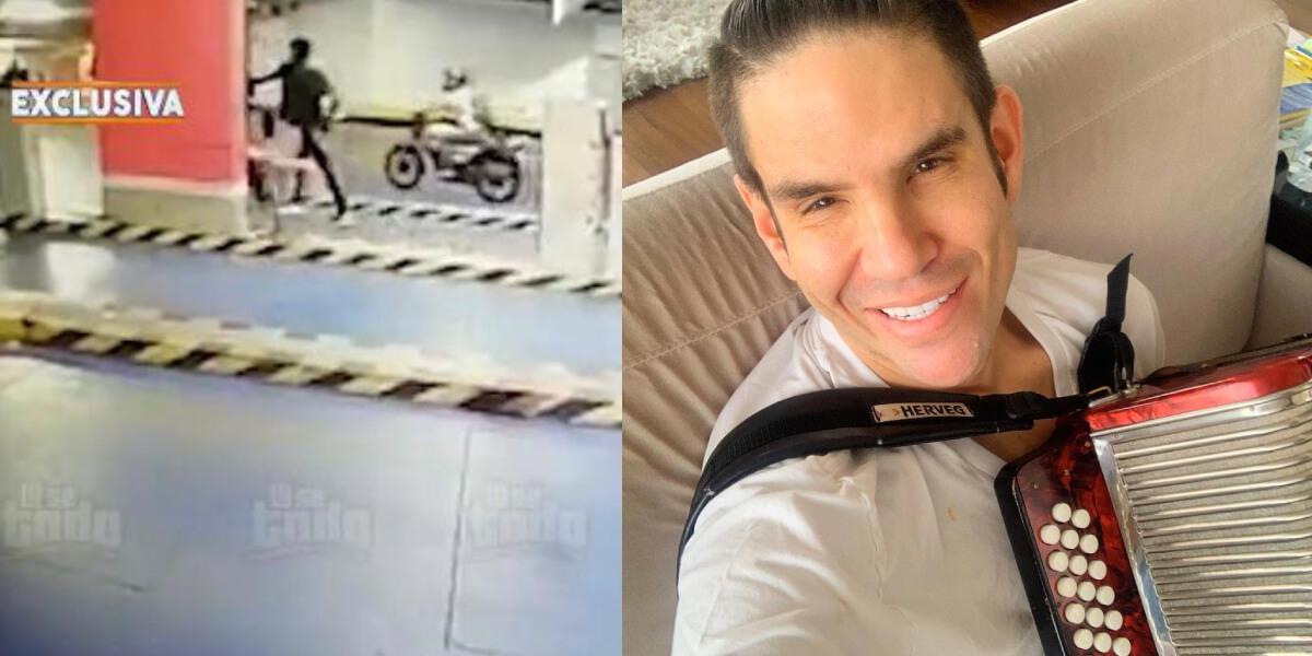 Imágenes del robo del que fue víctima el acordeonero Juancho de la Espriella