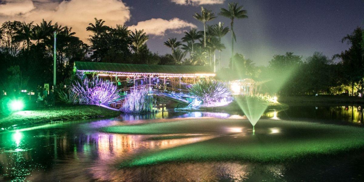 Jardín Botánico habilitó recorridos nocturnos hasta enero