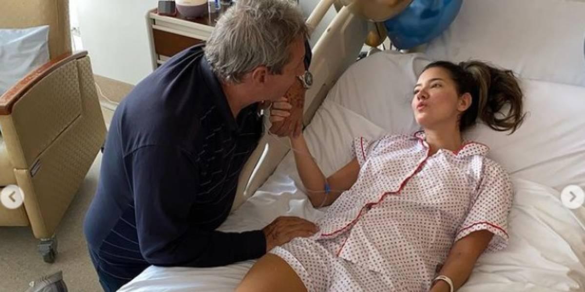 Padre de Daniella Álvarez se adelgazó tras 40 días en la UCI