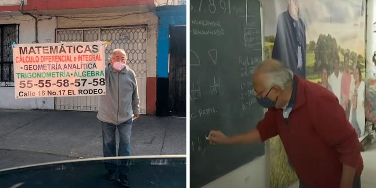 abuelito dicta clases de matemáticas