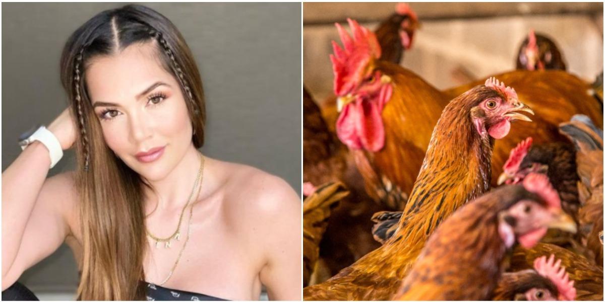 Lina Tejeiro sorprendió imitando a la perfección a una gallina