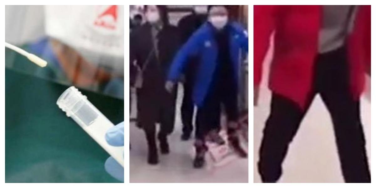 Chinos que les practican pruebas anales de COVID-19 caminan como pingüinos
