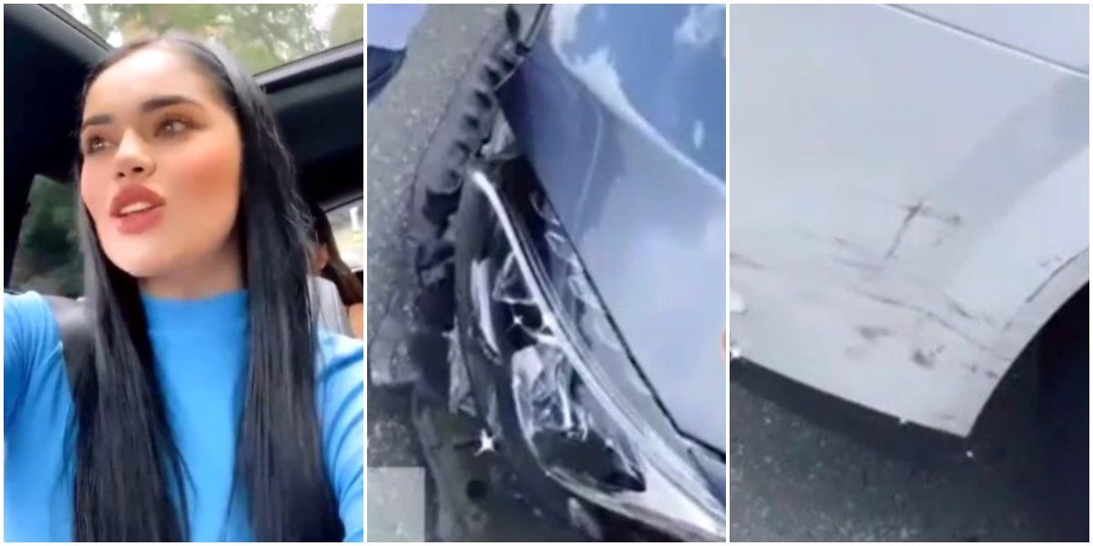 La Segura estrelló su camioneta de 300 millones de pesos
