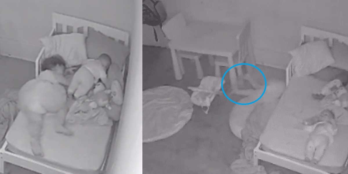 josh dean video viral bebe arratrasda por fantasma ente paranormal