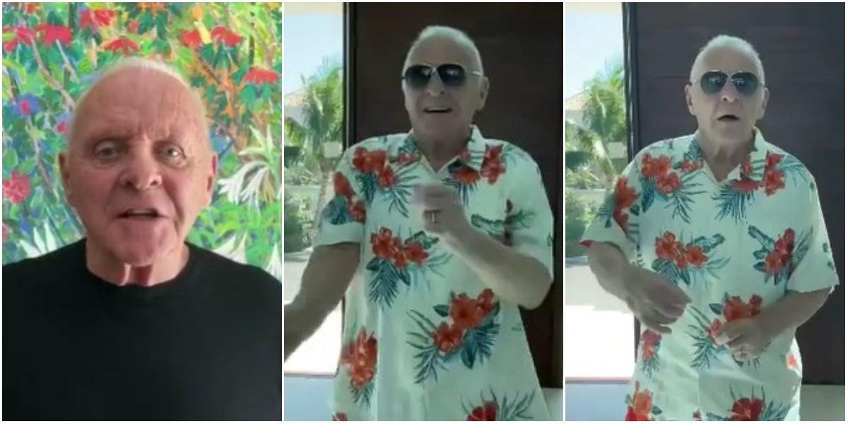 Anthony Hopkins bailando merengue