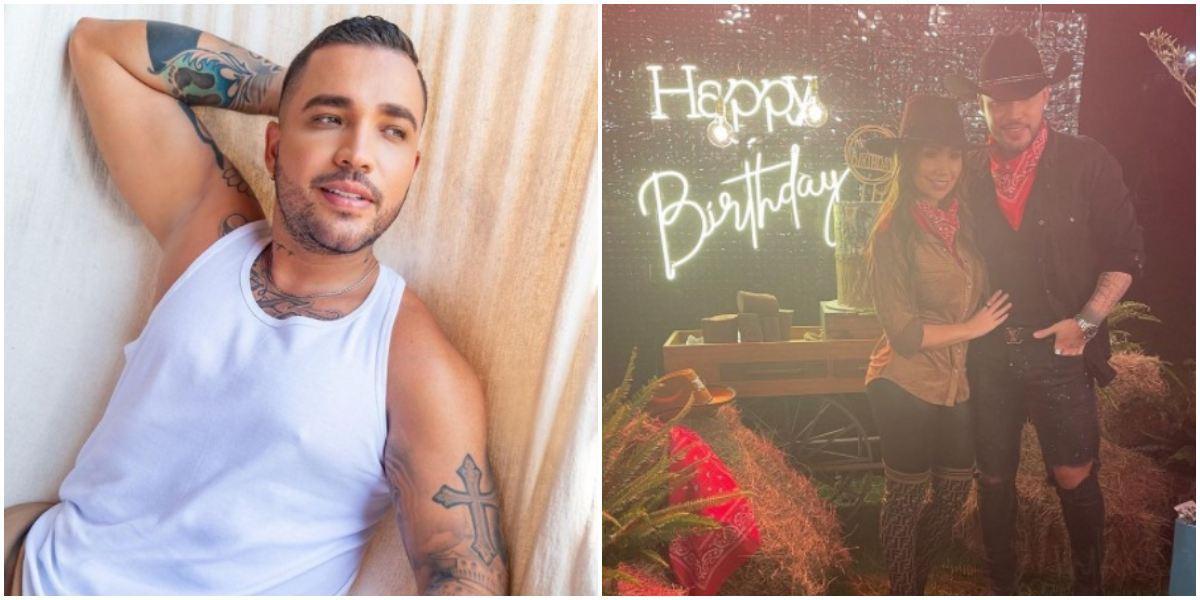 Jessi Uribe celebración cumpleaños con Paola Jara