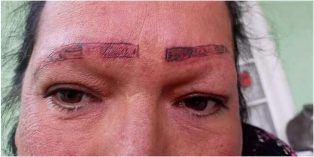 mujer denuncia tatuaje cejas le quemaron la piel mexico