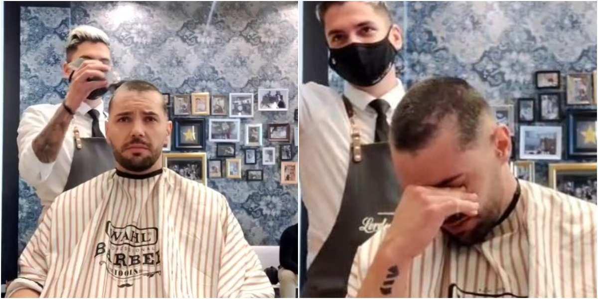 gesto peluquero joel ortega amigo neftali martin cancer tratamiento quimioterapias