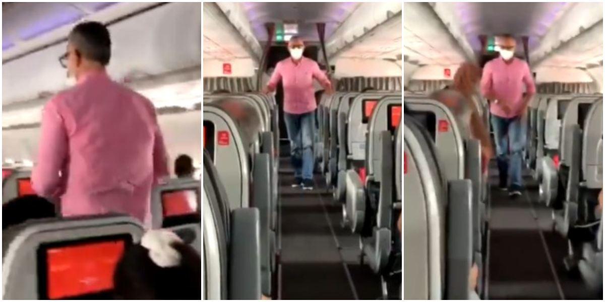 Hombre vuelo avión protesta contra reforma tributaria