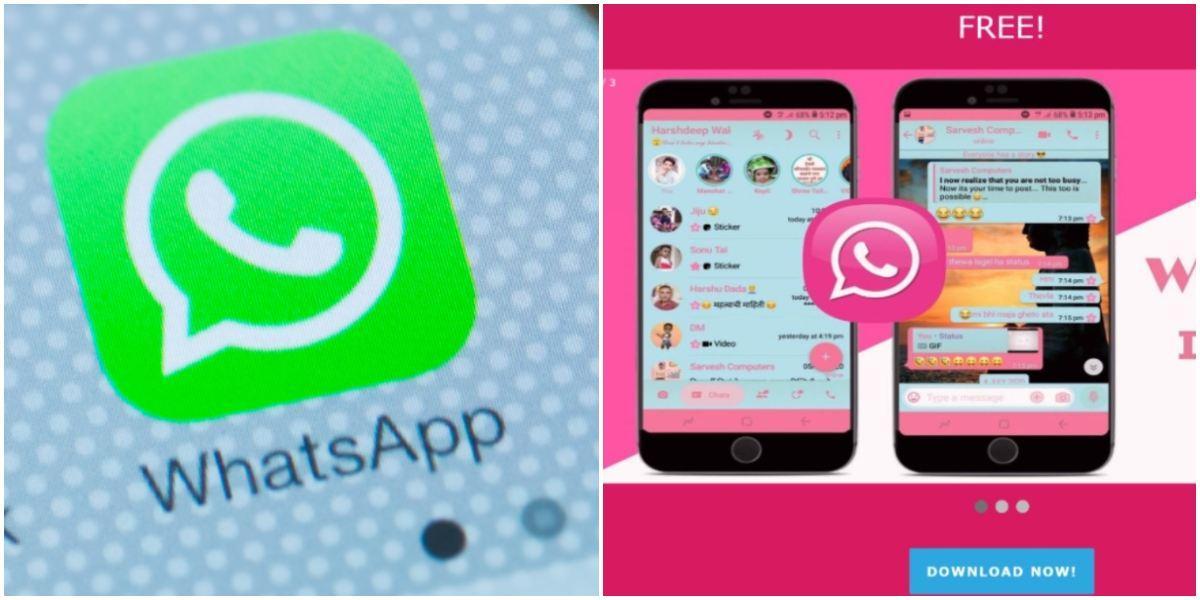 Alertan no descargar WhatsApp rosa robo datos