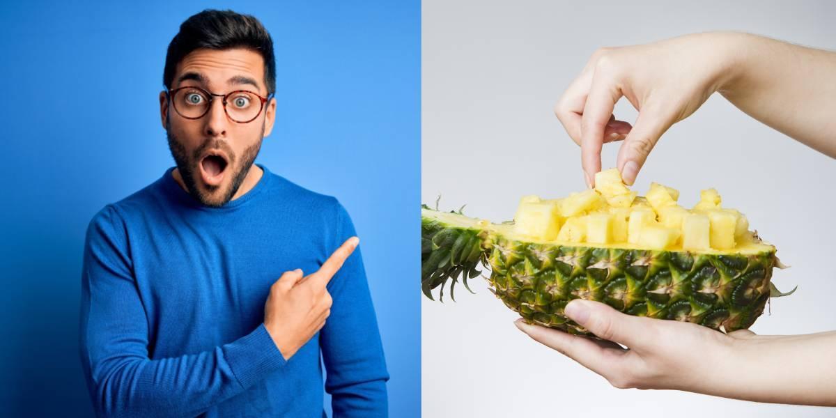 ¿Comer piña sin pelarla? El truco que sorprende a usuarios en redes sociales