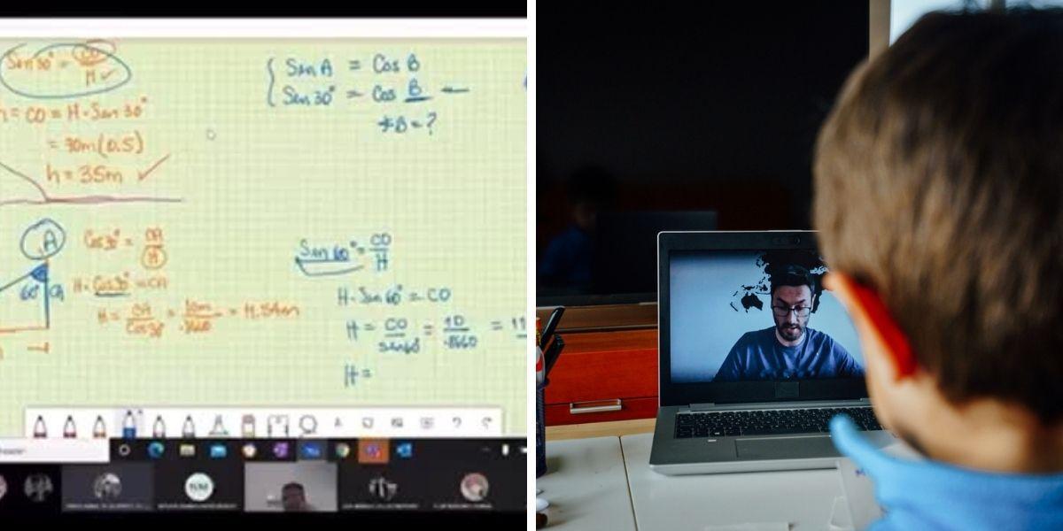 chico ingresó a una clase virtual de otro colegio