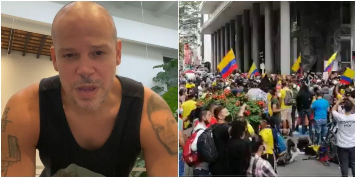 Residente contra reforma tributaria en Colombia