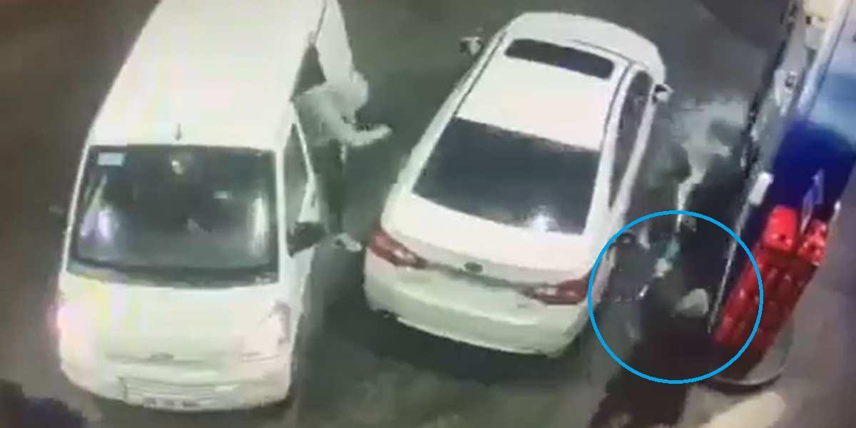 video viral abuelo rocia gasolina a ladrones