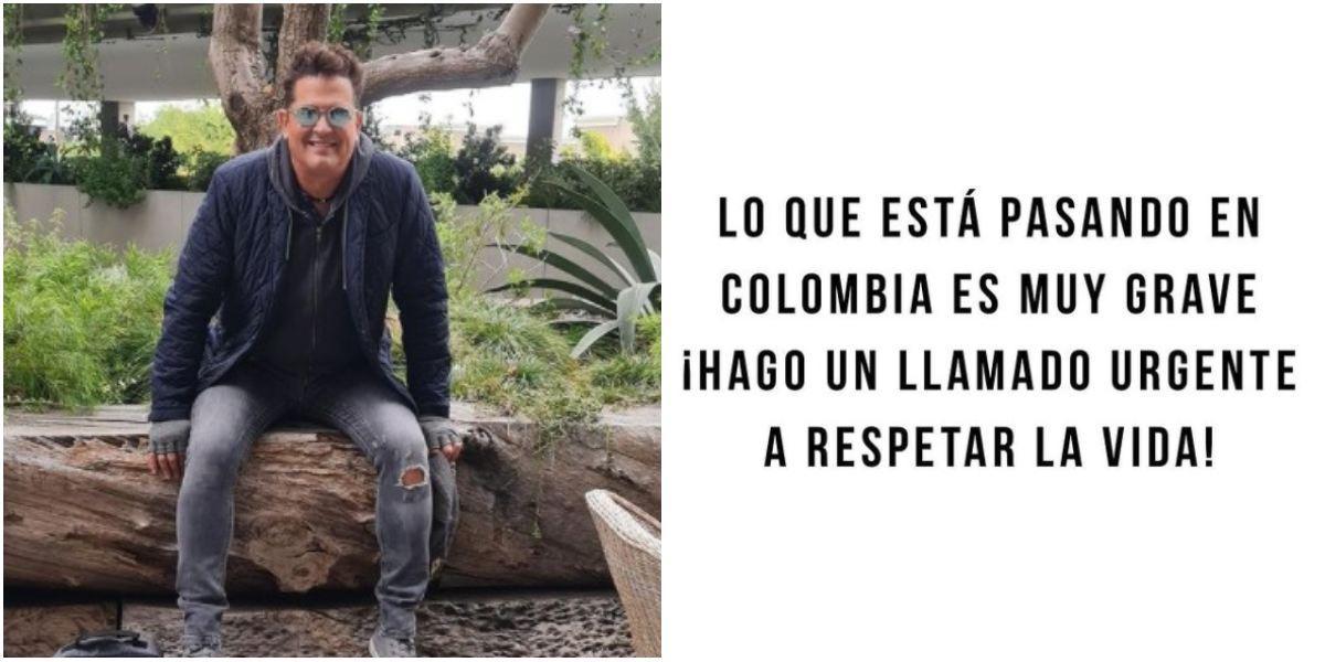 Carlos Vives se pronuncia sobre situación de Colombia