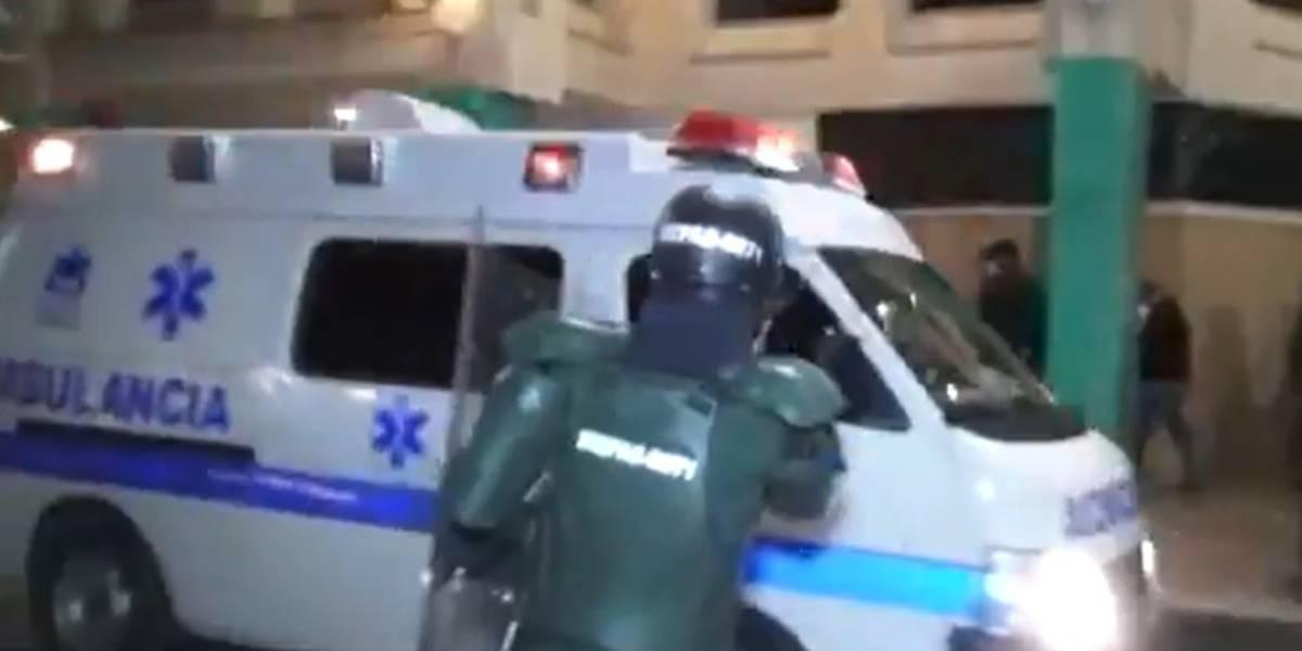 Video policías quemados en Pasto