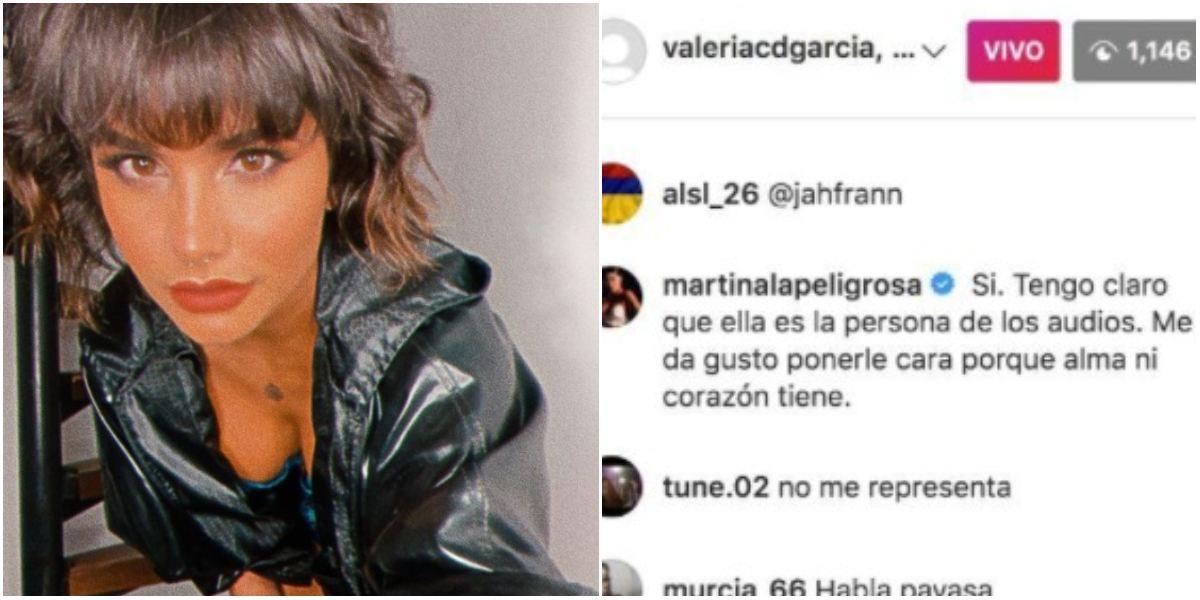 Martina La Peligrosa pidió perdón a Valería García por acusarla de vandalismo