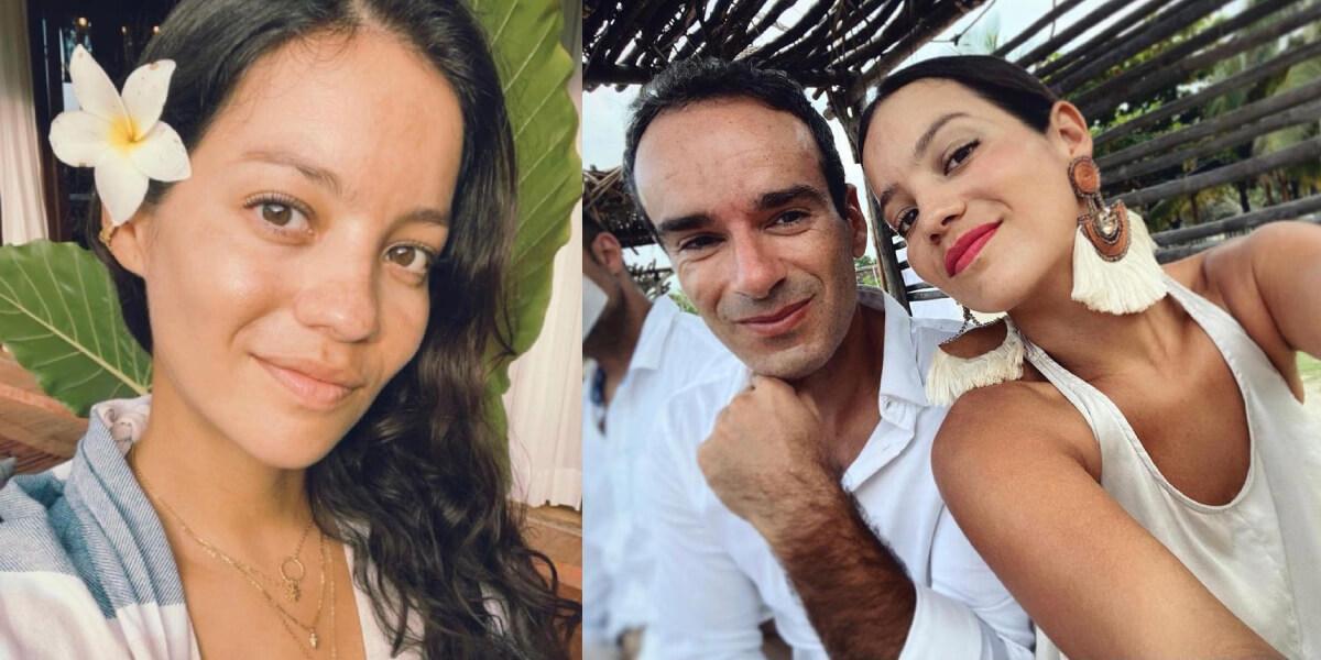 Natalia Reyes y su esposo