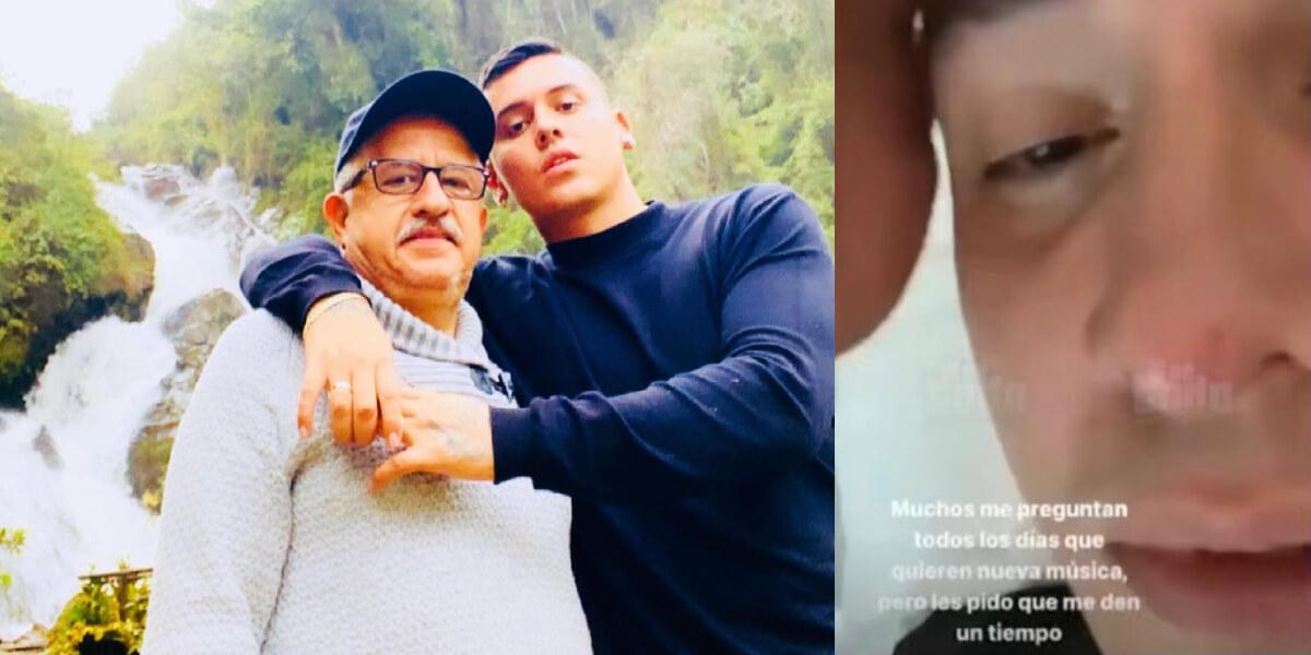 Kevin Roldán y su papá