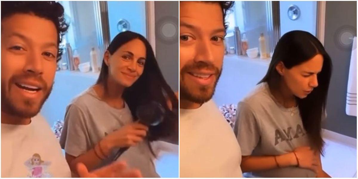 Valerie Domínguez contracciones nacimiento Thiago