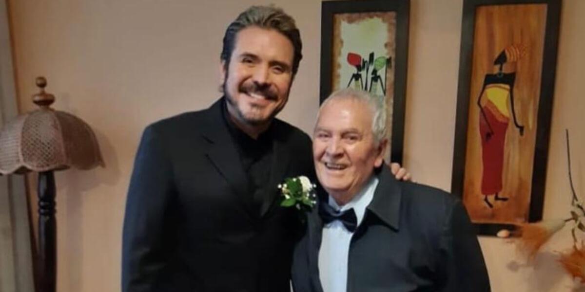 Iván Sánches y su papá