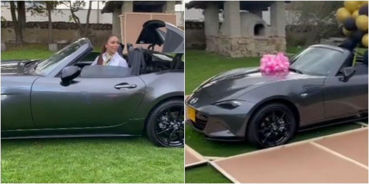 Epa Colombia pintó convertible rosado línea keratinas niñas