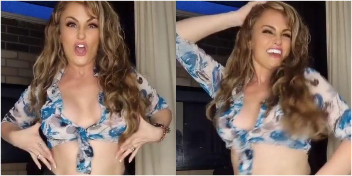Aura Cristina Geithner video bailando que le deje eso a las niñas