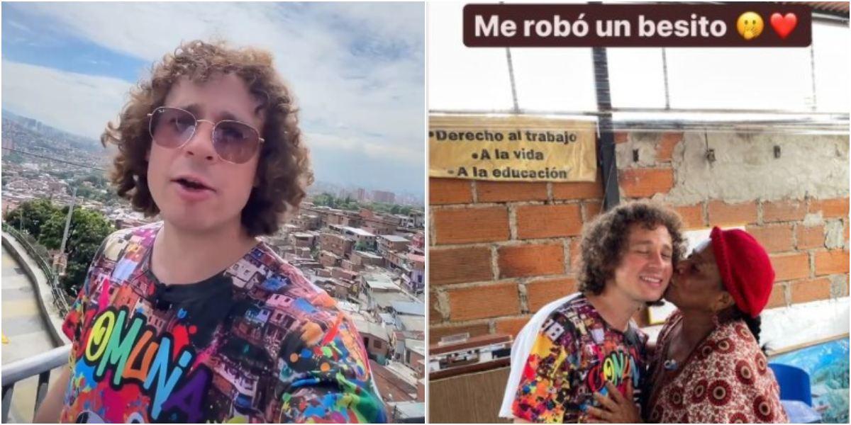 Luisito Comunica visitó la conocida comuna 13 de Medellín y quedó sorprendido