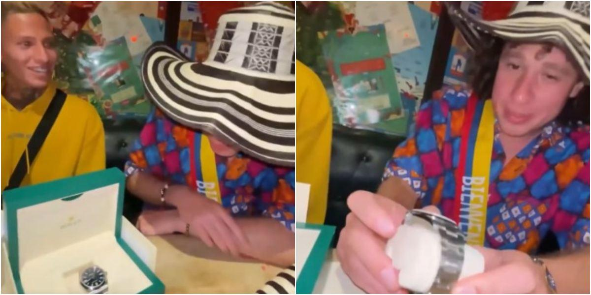 La Liendra regalos que le dio a Luisito Comunica cena Medellín Colombia