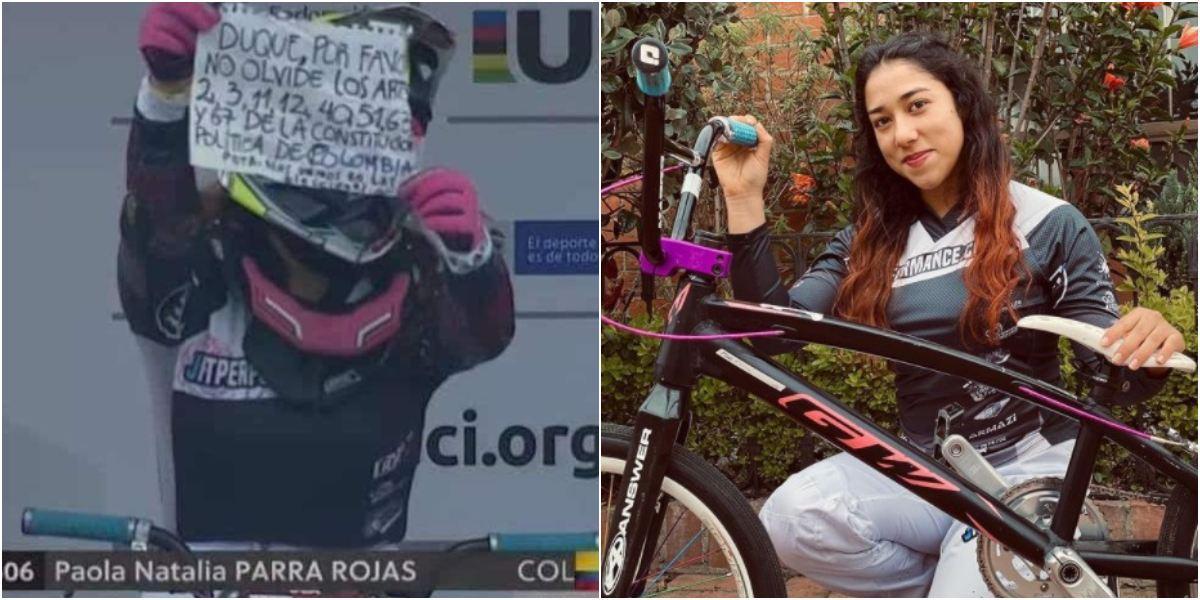 Paola Parra, ciclista BMX sacó cartel contra Duque Copa Mundo
