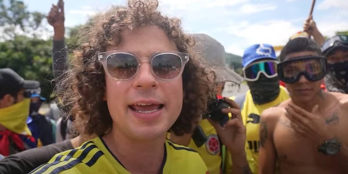 Luisito Comunica primer video YouTube Colombia protestas Cali paro nacional