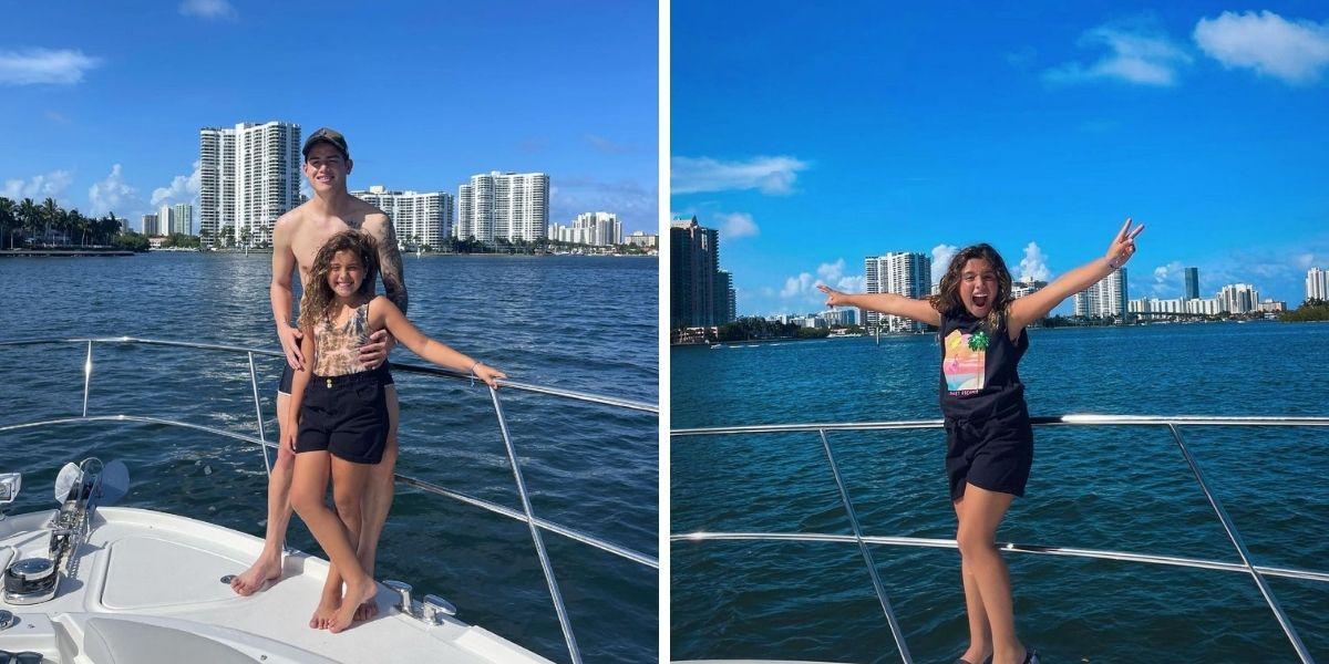 Daniela Ospina y James Rodríguez estuvieron juntos en un yate este fin de semana