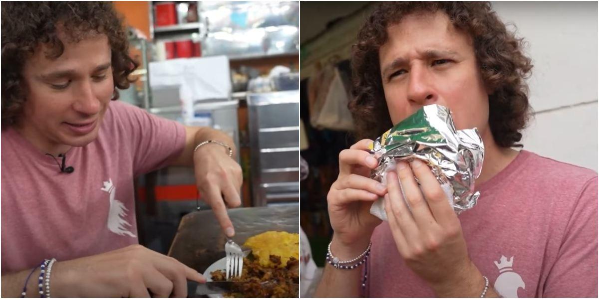 Luisito Comunica probó comida callejera en Cali, Colombia