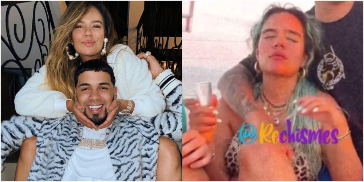 Karol G pasa tusa por Anuel AA en un yate bebiendo