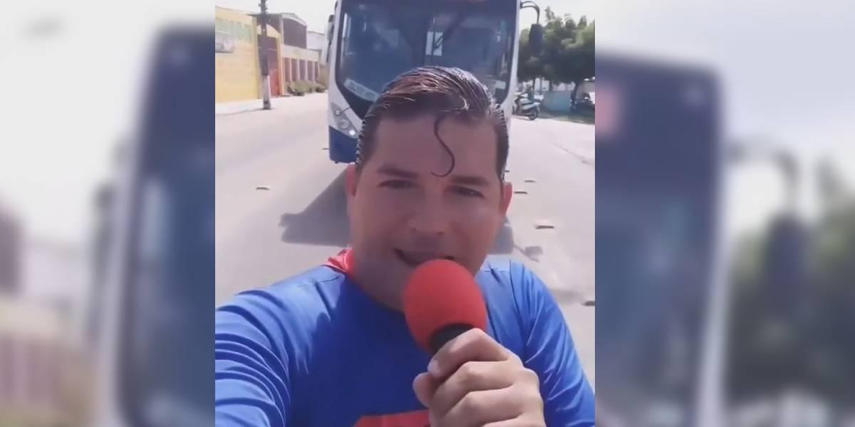 superman brasil atropellado bus video viral
