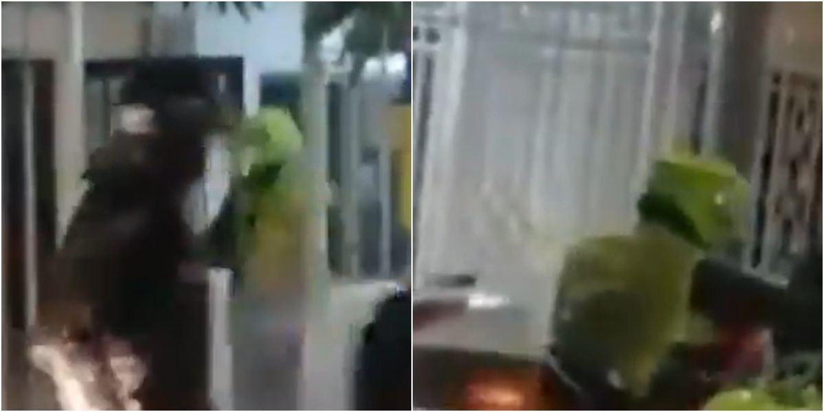 Video policías rompen vidrios ingresan casa Barranquilla La Ciudadela