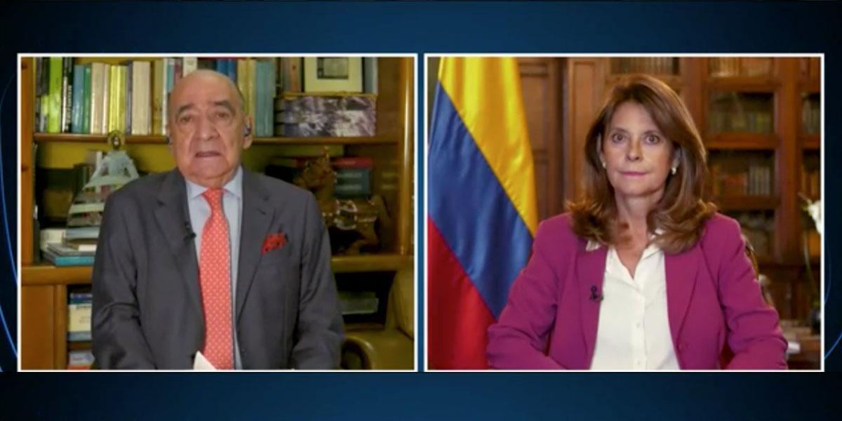 Vicepresidenta y canciller de Colombia hace balance de visita de CIDH