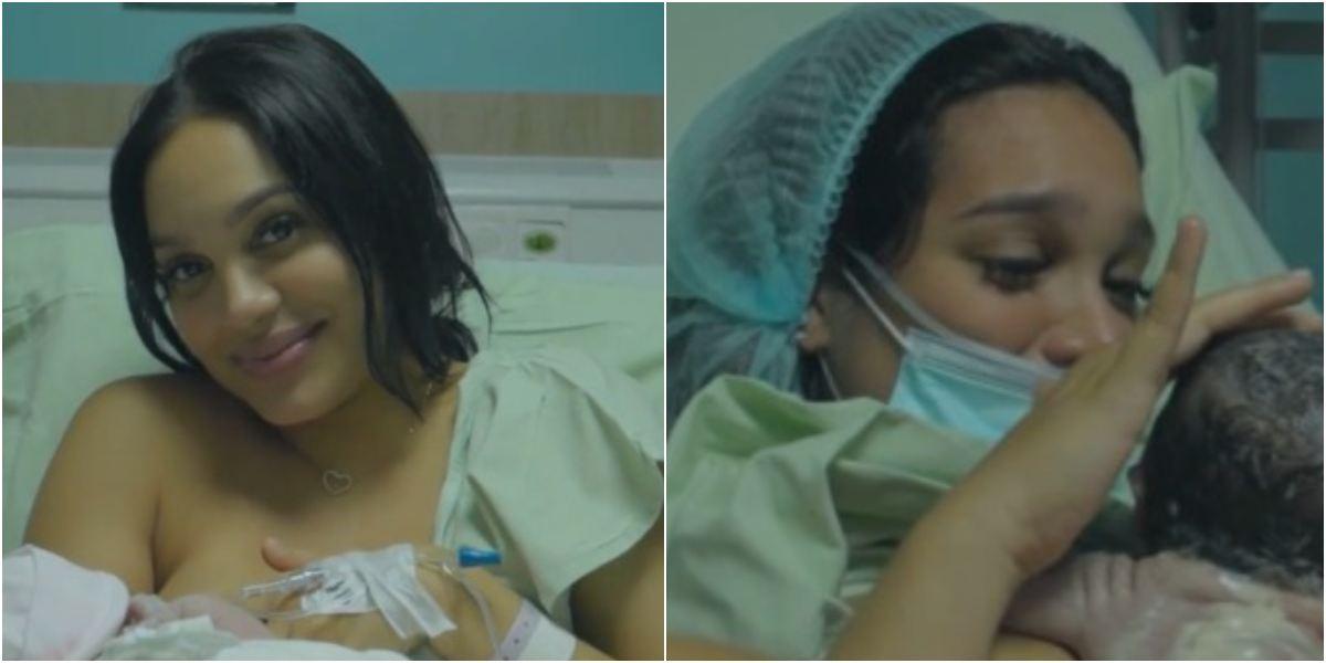 Andrea Valdiri mostró rostro de su hija Adhara Lowe León