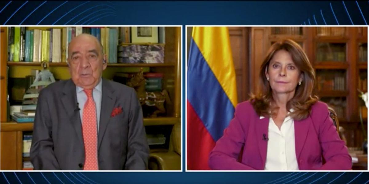 Vicepresidenta y canciller, Marta Lucía Ramírez habla de la situación en la frontera con Venezuela