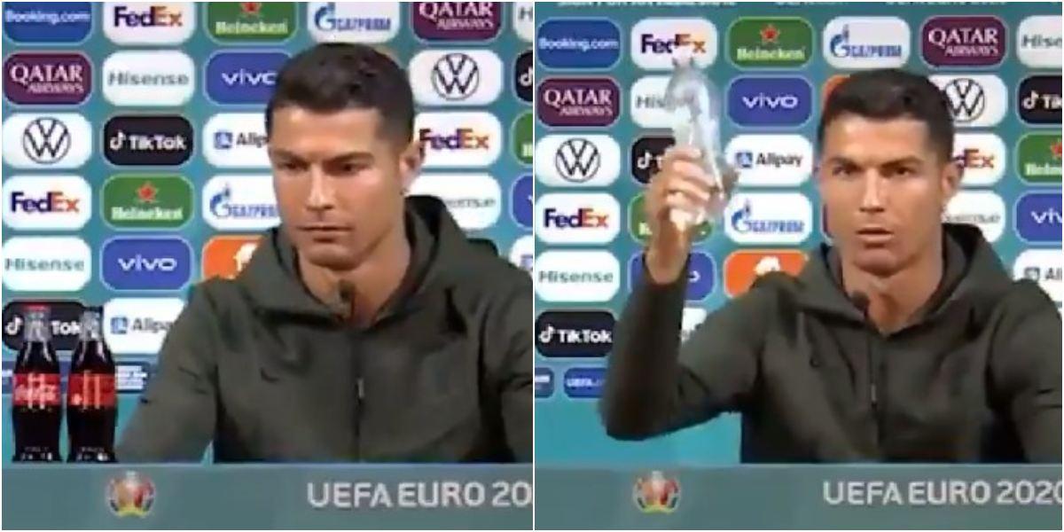 Cristiano Ronaldo cambió la Coca-Cola por agua