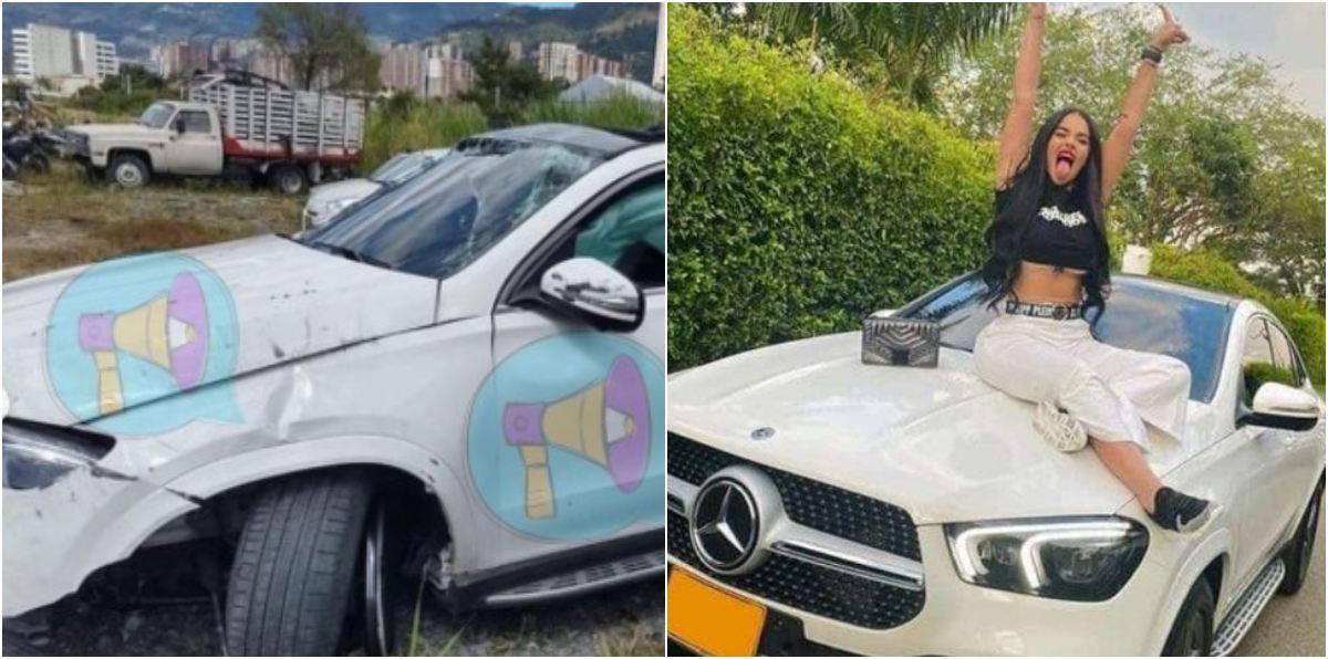 Pérdida total así quedó camioneta Mercedes Benz de La Segura luego de que amigo la estrellara