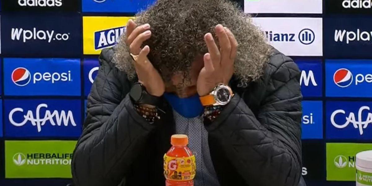 Alberto Gamero rompió en llanto tras pérdida Millonarios vs Tolima